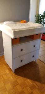 Table à langer IKEA Hemnes