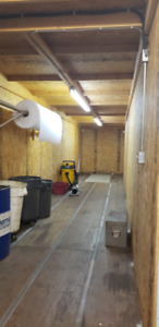 Insulated Industrial 40 ft storage Container with lighting