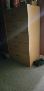 Two dressers 5 drawer in good shape