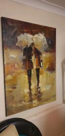 Antonio Palmieri Large Acrylic on Canvas. Painting Art