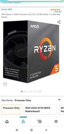 AMD Ryzen 5 3600 processor and msi motherboard