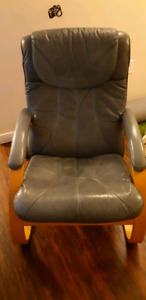 LEATHER IKEA ARM CHAIR