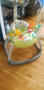 Folding exersaucer