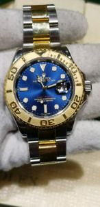 Luxury watch Rolex Yacht Master 18k gold and stainless steel