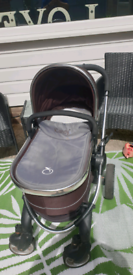 icandy pram pushchair brown and grey