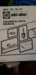 Vintage Skidoo Technical Data Manual 74-74