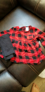 Girls 12 month plaid outfit for fall