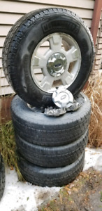 Factory Ford F150 tires and rims