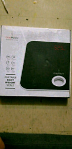 Gray Maple Digital Body Weight Scale
