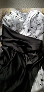 Black and White Wedding Dress for sale.