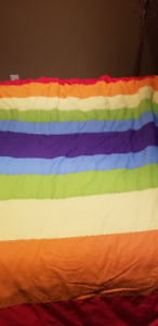 Custom-made Rainbow Queen Quilt Cover and Quilt