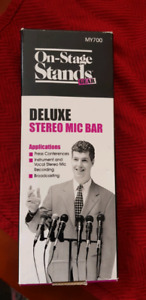 ($70 Value) 2 Professional Mic Stands+Deluxe Stereo Mic Bar