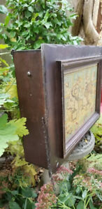 Vintage Wood Old World Map Curio Wall Cabinet,Display Cabinet