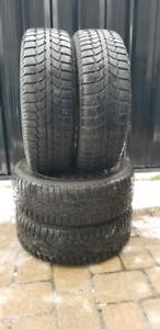 4x 195 65 15 Winter Tires on VW rims 5×112