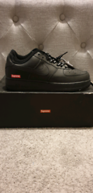 Nike x Supreme Air Force 1. Black. UK 8.5