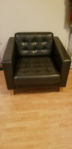 Ikea Leather Armchair: $150, OBO