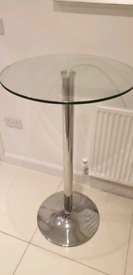 Breakfast bar table with glass top