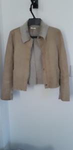Women style leather jacket