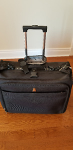 New Large Black Delsey Suitcase