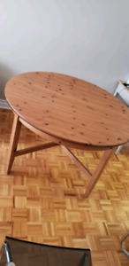 IKEA EXTENDABLE DINING TABLE (SOLID WOOD)
