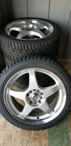 Set of Winter Tires on Wheels