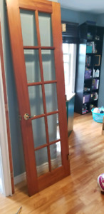 """Two 24"""" beveled glass french doors"""