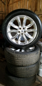 FORD EXPLORER  20 INCH ALLOY RIMS AND TIRES