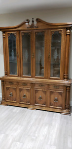 Dining Table, Six Chairs, Buffet and Hutch