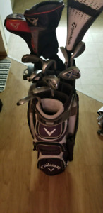 Callaway x 22 graphite irons with rbz driver and diablo driver