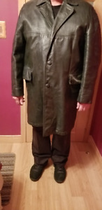 Leather Mens 3/4 Coat