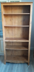 Wooden shelves book case