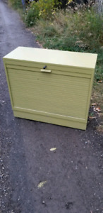 Antique Roll Front Cabinet
