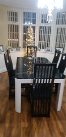 Solid Dining table & 6 chairs