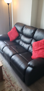 Black Three-Seater Couch