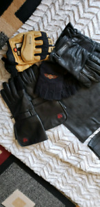 Assorted leather gloves