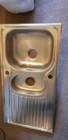 Franke 1 and half bowl stainless steel kitchen sink new unusec