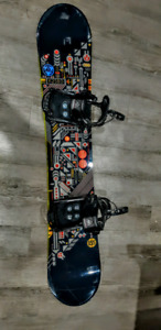 Like New Snowboard and Bindings Combo - K2 Fuse and K2 CTC Cinch