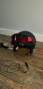 Helmet size M - with headphones and goggles for ski/snowboarding