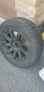 225/60/R18 winter tires with wheels 70% thread 60% in 2