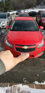 2014 CHEVROLET CRUZE WITH EXTREMELY LOW KM