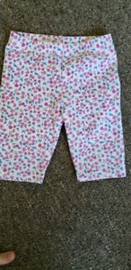 pink, white, and blue floral pants