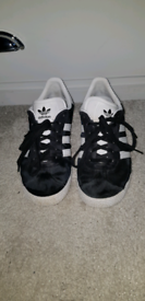Adidas Black Trainers size 4
