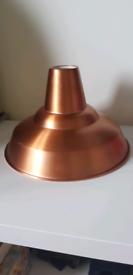 Copper lampshade