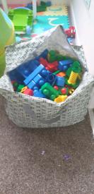 Jumbo size bag of genuine lego duplo