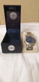 New sekonda blue dial date indicator men's watch, perfectly working,