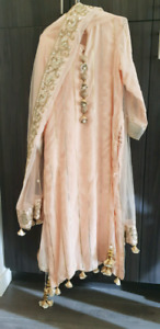 Peach color suit with sharara pants(Exhibition piece)