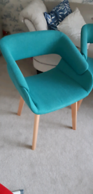 Green dining chairs nearly new (3-4!)