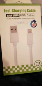iPhone: FAST-CHARGING /HIGH SPEED *10FT* USB CABLE