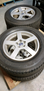 Pneus hiver michelin sur jantes volvo xc60 mags withwinter tires