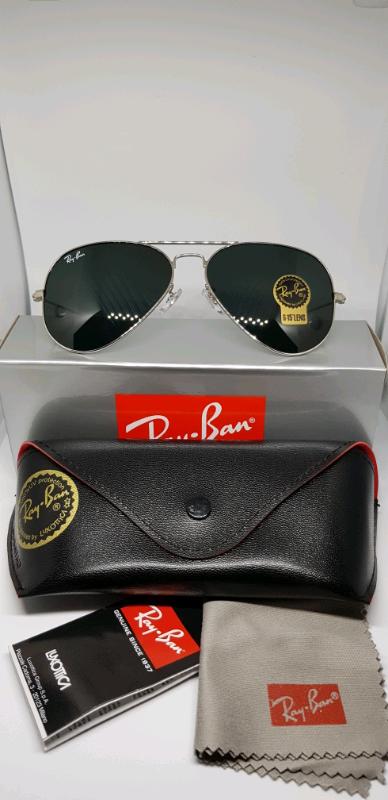 9c322f7dce0d Rayban aviator sunglasses silver